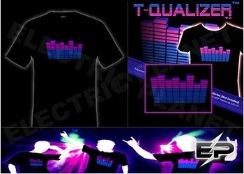 [Super Deal]Wholesale 2009 fashion hot sale T-shirt A24,el t-shirt,led t-shirt
