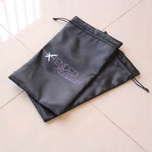 Wholesale Black 2 Colors Logo Satin 3 Bundles Hair Extension Hanger Bags