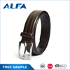 Alfa New Products 2017 Double Stitching Fashion Men Formal Dress Pu Bonded Leather Belt