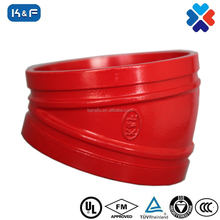 FM/ UL APPROVED ductile iron grooved pipe fittings Pipe 22.5 degree elbow