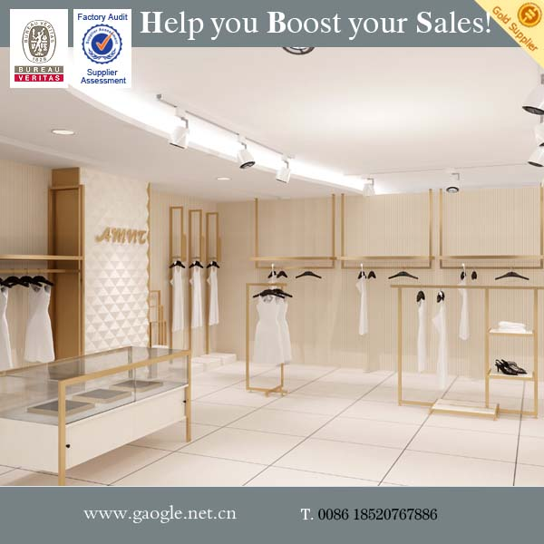 custom good quality women dress clothes shop counter design