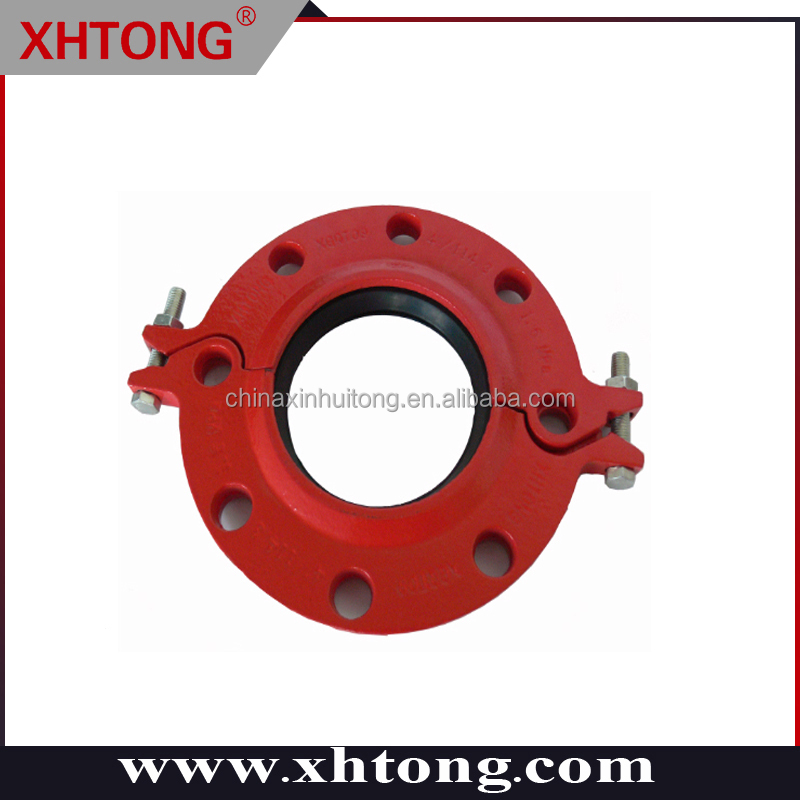 "3"" XGQT4 Ductile Iron Grooved Pipe Fittings Grooved Split Flange"