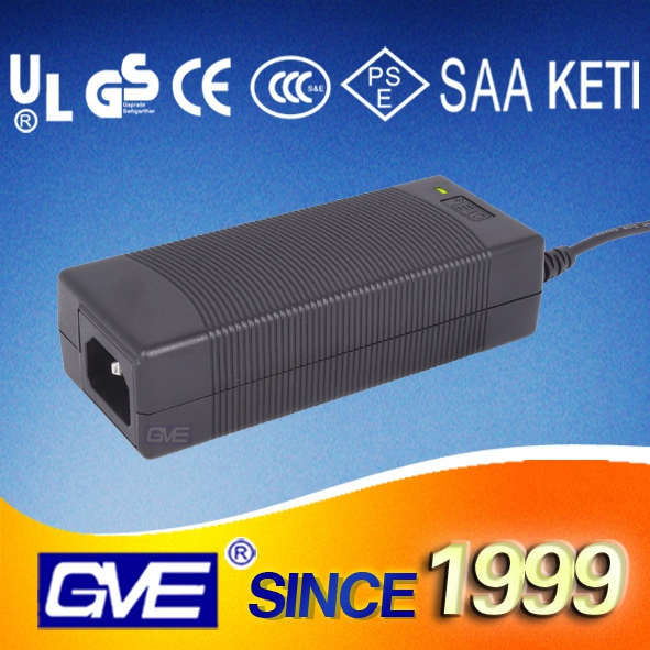 GVE brand ROsh CCC dual voltage 12v 6a power supply with 3 years warranty for POS