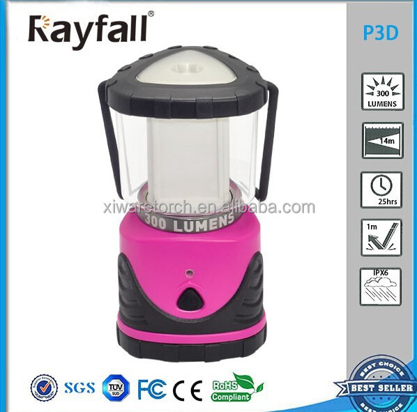 Purple Color Camping Hanging Lights, LED Folding Camping Lantern P3D