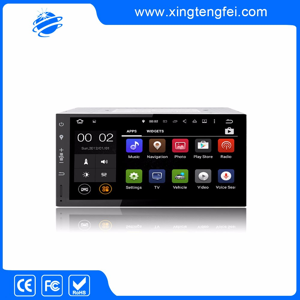Universal Car Radio DVD Player Android 5.1.1 Quad Core 7 Inch Full Screen Touch Double Din With GPS Wifi BT Radio EX-TV DU7073