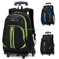 Rolling Backpack Carry On Luggage Wheeled Bag w/ Laptop Sleeve