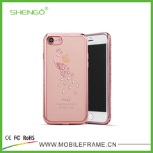 2016 Alibaba Gold Supplier Fashion Low Price Crystal Cute Cellphone Case,Clear TPU Slim Phone Case for iPhone 7