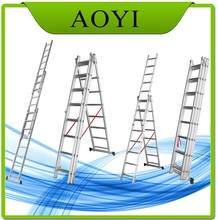 5m price en131 aluminum foldable Step ladder,werner ladder stabilizer made in China