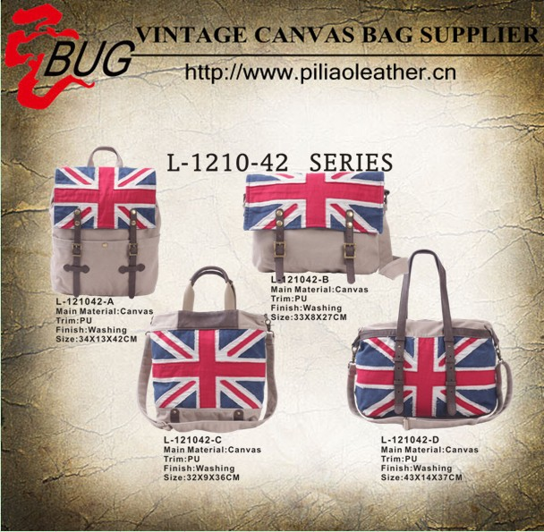 New arriva bag unisex canvas backpack customized 3D national flag