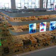 High detail section layout building model of commercial real estate project