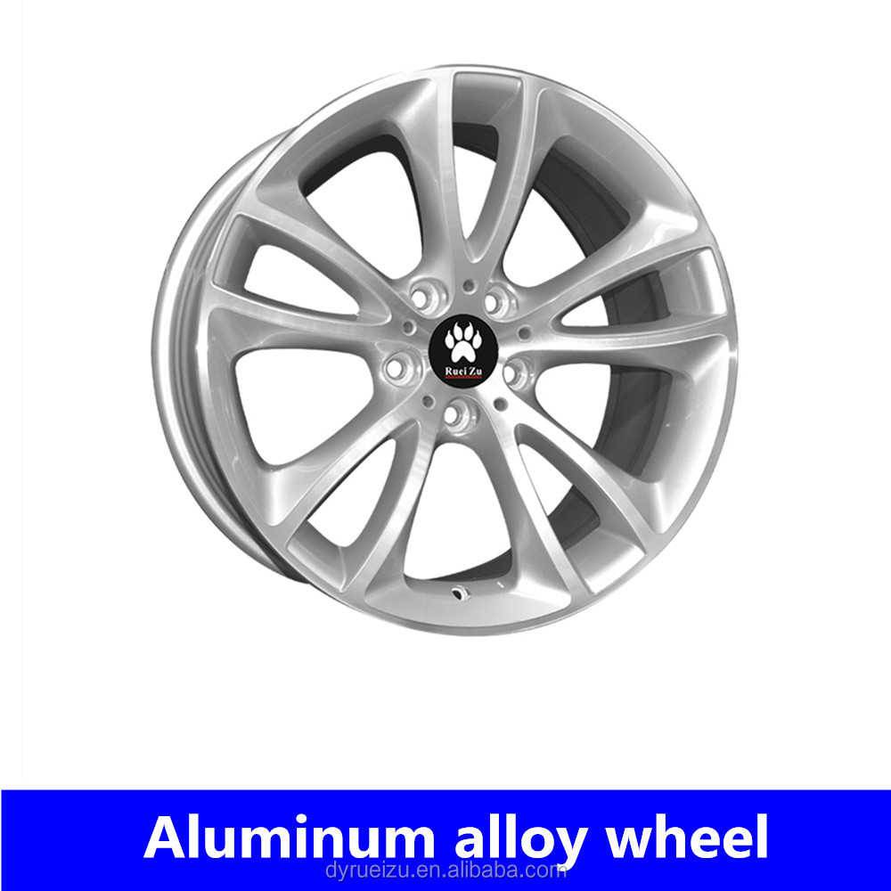 Silver car wheel rims 19inch 5*120 alloy wheels for bm-w replica