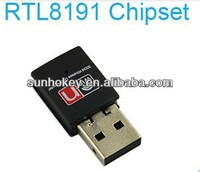 300Mbps Realtek RTL8191 Chipset Mini WiFi Wireless USB Dongle