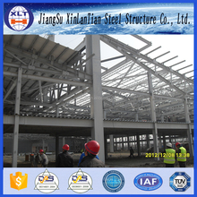 Low price design wide span light prefabricated steel structure building