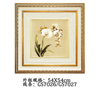 54x54CM Colorful square painted pictures of flowers