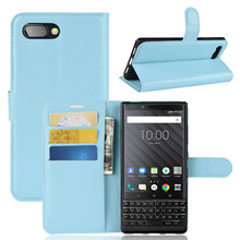 Litchi grain Leather Phone <strong>Case</strong> For <strong>BlackBerry</strong> Key 2 <strong>Case</strong>