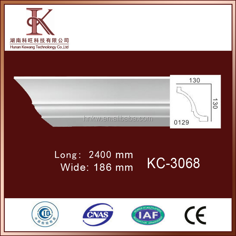 High Quality Polyurethane PU Foam Wholesale Crown Molding For Exterior