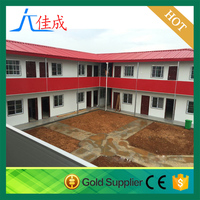 flat roof easy bulid T house corrugated steel buildings for worker dormitory