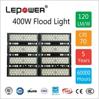 400W LED Flood light, Sports and Area floodlighting, IP67, 140Lm/w, Meanwell driver