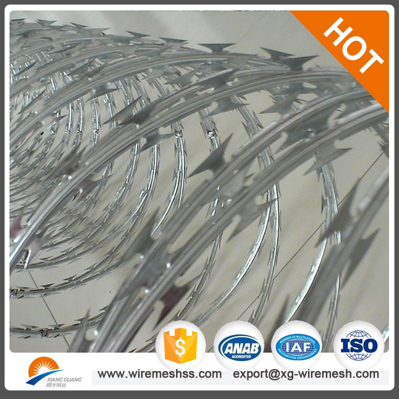 barbed wire price /razor wire in anping xiangguang factory