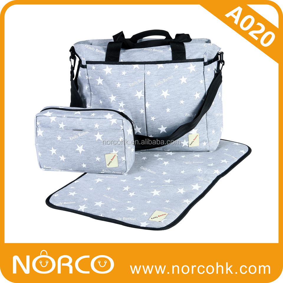 Diaper Bag/ Mommy Bag, Mother Bag Set with Changing Pad