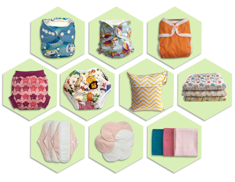 BCD091 Free Sample Soft Care Reusable Sanitary Pad Cloth Menstrual Pads
