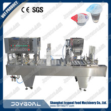 Hot sale automatic juice/yogurt cup filling sealing machine