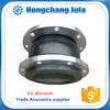 Flexible connection single sphere rubber expansion joints with steel rod