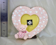 heart shaped love wedding pendant photo frame