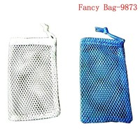 Good quality small nylon mesh net drawstring bag golf ball holder bag