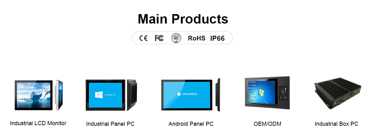 10 inch all in one computer touch screen panel pc fanless mini pc 12V desktop pc industrial computer