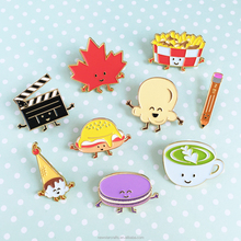 Custom Bulk Promotional Food and Fruit Style Collar Decoration Enamel Lapel Pin