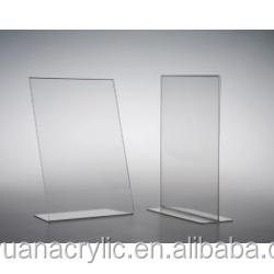 V shape acrylic sign holder custom acrylic desk label holder acrylic price sign holder wholesale