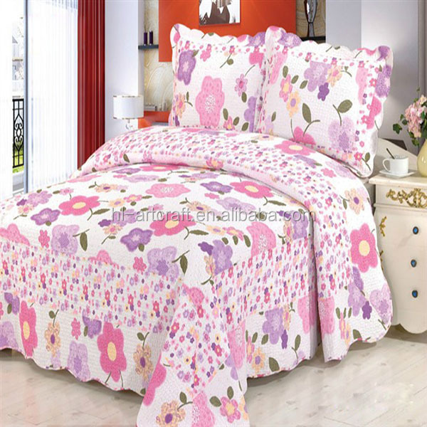 Hot sale elegant classcial patchwork pattern beautiful designs comfortable bedspread quilt sets