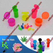 Colorful Child Resistant Hinged lid Vial Snap tops Pop Top Medical Vials