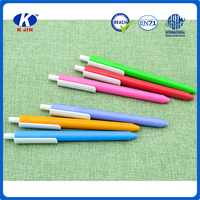 Promotional high quantity plastic ball pen with custom printing for school