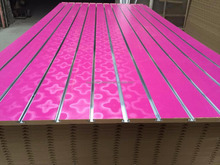 Melamine paper faced Slotted mdf board/slotwall panel