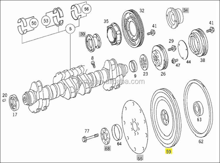 spare parts for mercedes benz om501la diesel engine