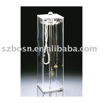 Clear Acrylic Plastic Necklace Holder & Organizers & hanger & keeper