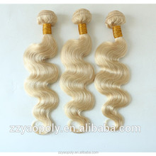 wholesale cheap blonde 613 color body wave brazilian human hair , 100 human hair bundles / weaves