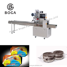Automatic mini flow pack Coconut chocolate cookies packaging machine biscuit pile packing machine