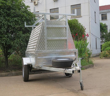 roof rack 8x4 utility enclosed box trailer cover,aluminum tradesman trailer