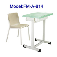 Plastic student furniture school chair and desk