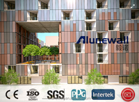 Alunewall Fire-rated B1 Wall Facade Aluminium Composite Panel/B1Cladding//Fireproof B1 Standard ACP