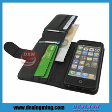 New vertical black leather holster pouch belt clip case for iphone 5