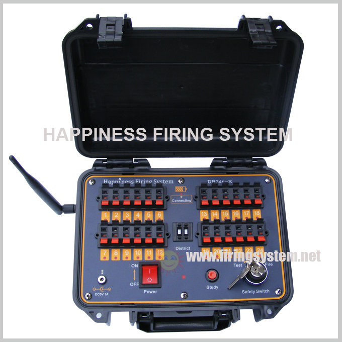 wireless and wire control Fireworks Firing System/96 cues remote control display fireworks firing system