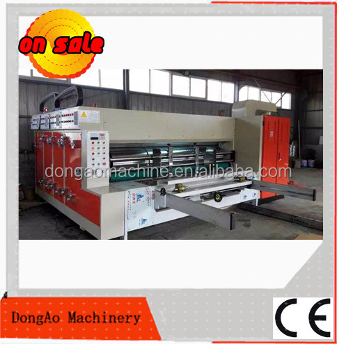 Printing machine to used corrugated cardboard making carton box machine