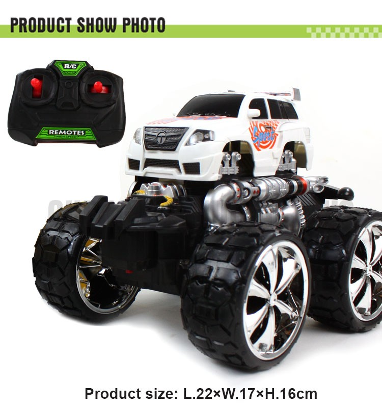 Big wheels RC plastic monster truck toy