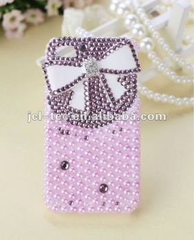 butterfly bows pearl case diamond case for iphone 5