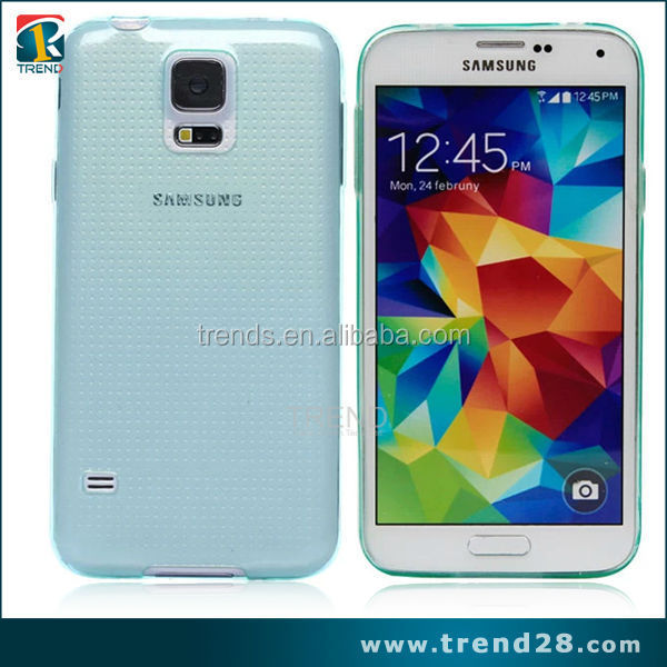 transparent 0.33mm tpu skin soft case for samsung galaxy s5 i9600