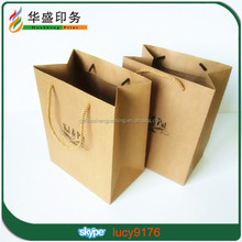 Custom Logo Printed brown craft gift shopping paper bag Wholesale